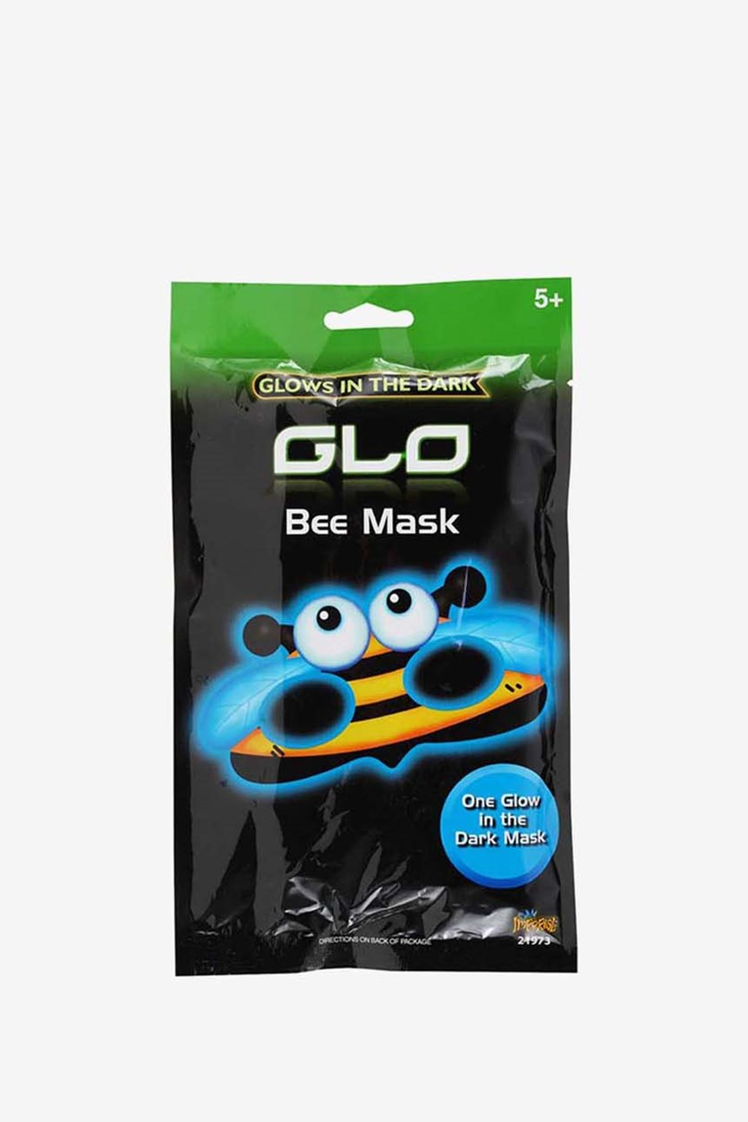 Kid's Unisex Glow In The Dark Bee Mask, Blue