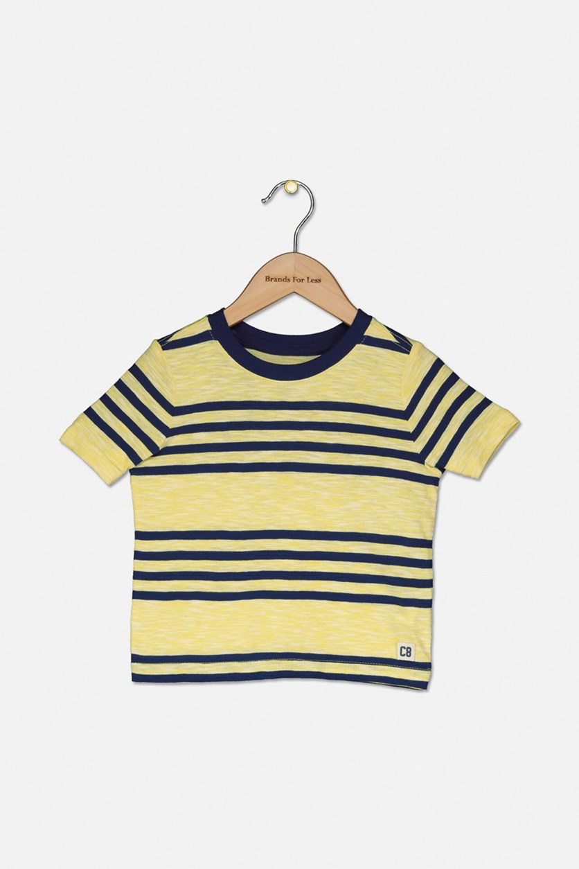 Little Boys Stripe Tops, Yellow/Navy