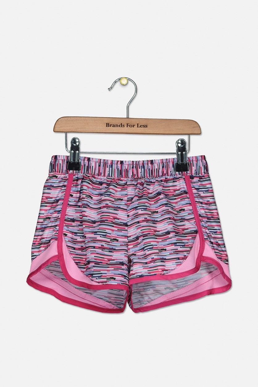 Girls Pretty Pattern Shorts, Pink Combo