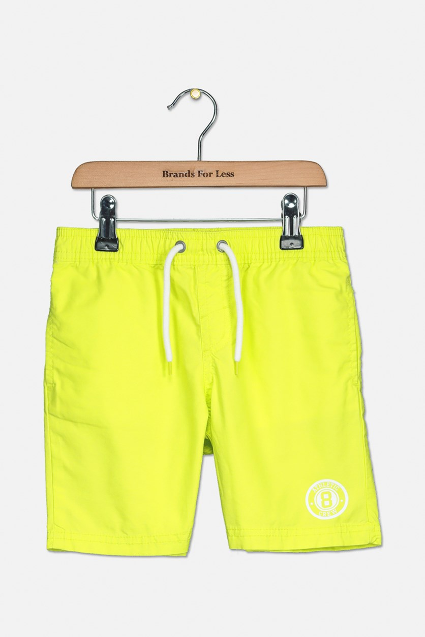 Baby Boys Plain Shorts, Neon Green