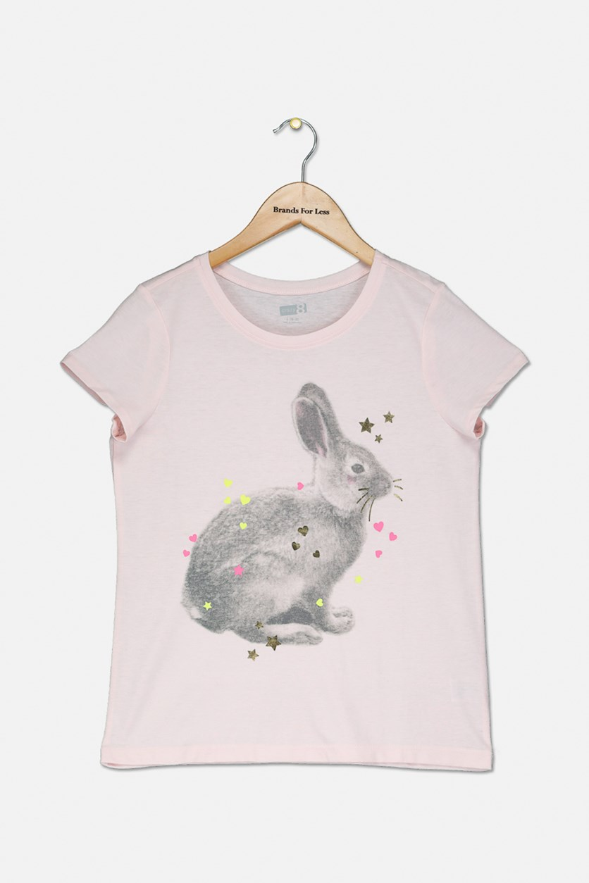 Kids Girls graphic Tops, Light Pink