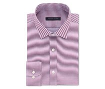 Men's Fitted Flex Stretch Performance Check Dress Shirt, Cayenne