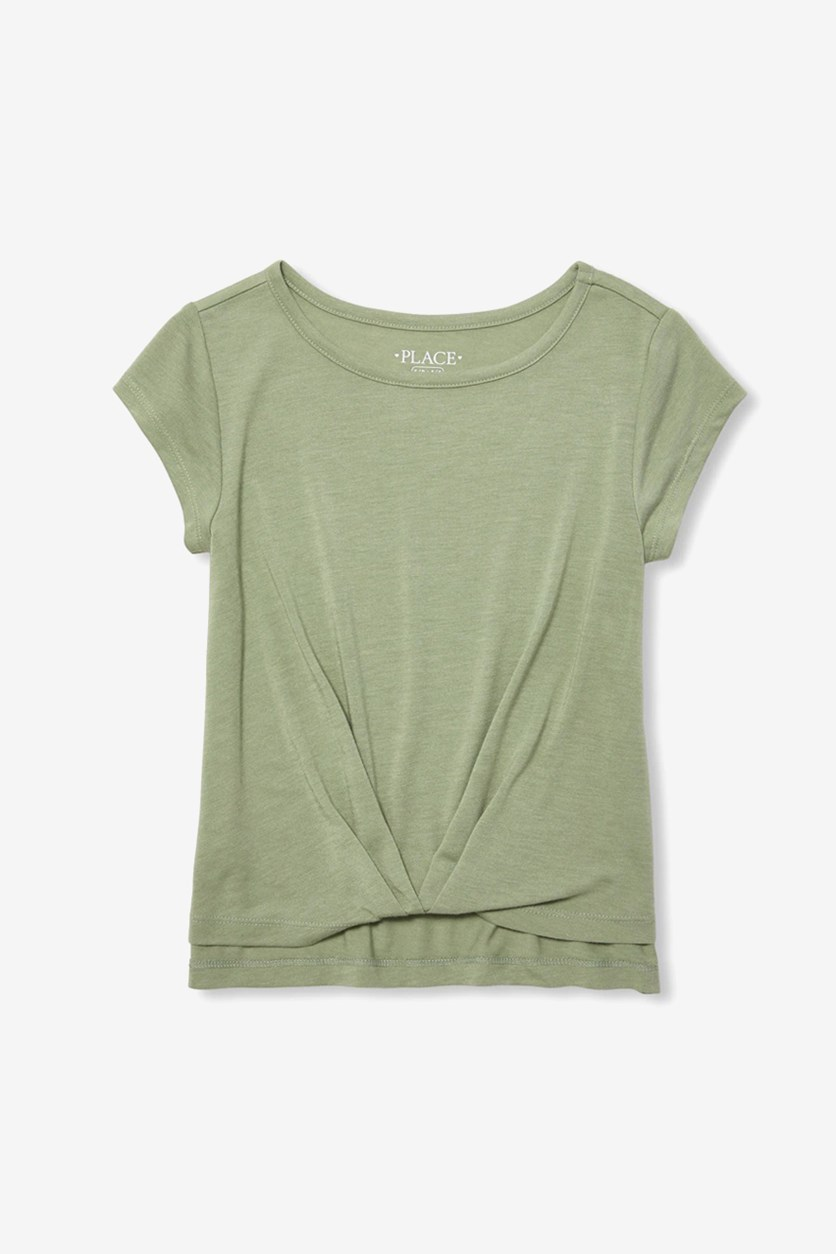 Kids Girls Short Sleeve Top, Misty Glen