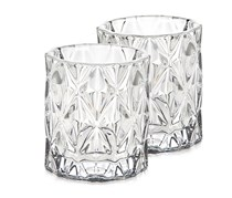 Godinger Serenade Votive Glass Clear Set of 2, Clear