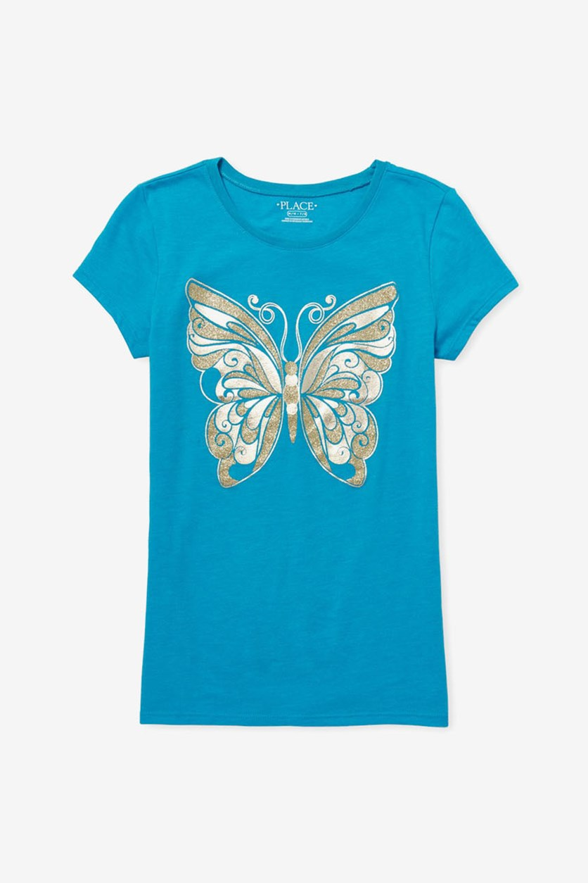 Kid's Girl's Graphic Top, Blue