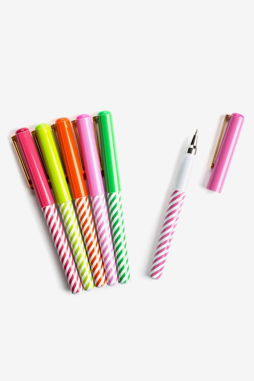 Set of 6 Rainbow Pens, White Combo