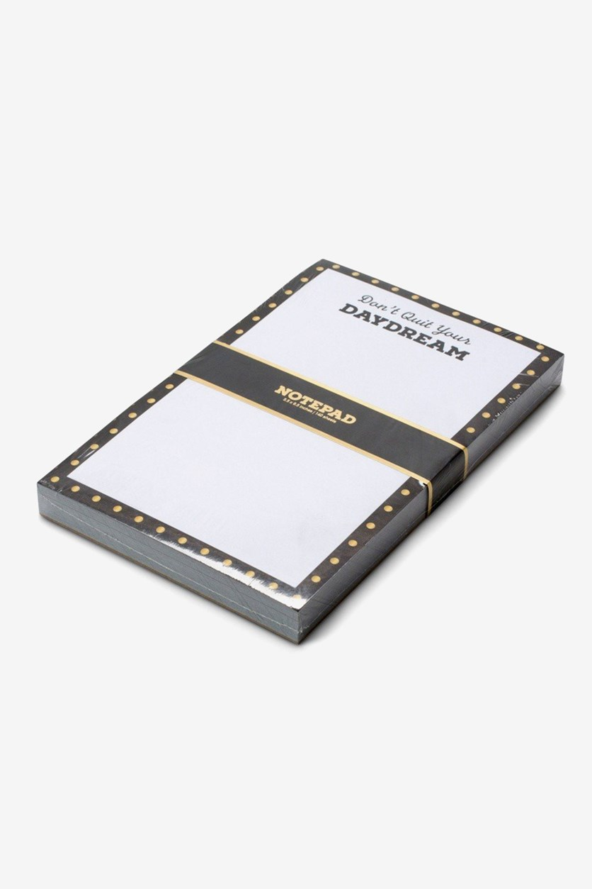 Day Dream Notepad White/BLack
