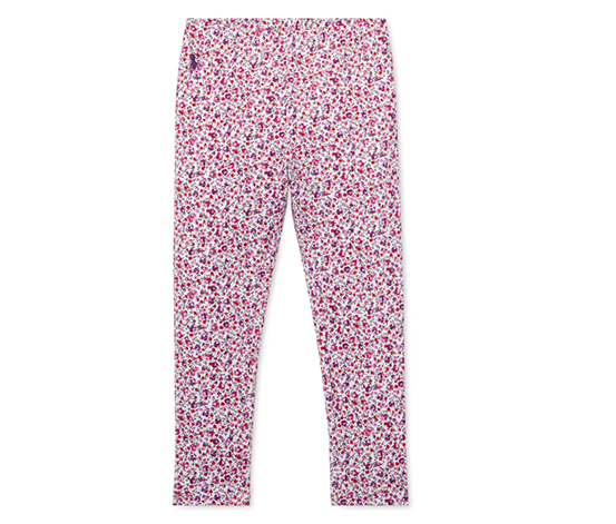 Polo Ralph Lauren Toddler Girls Leggings, Pink/White/Purple