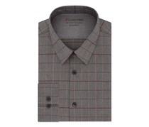 Men's Striped Extreme Slim Fit Button-Down Dress Shirt, Gray