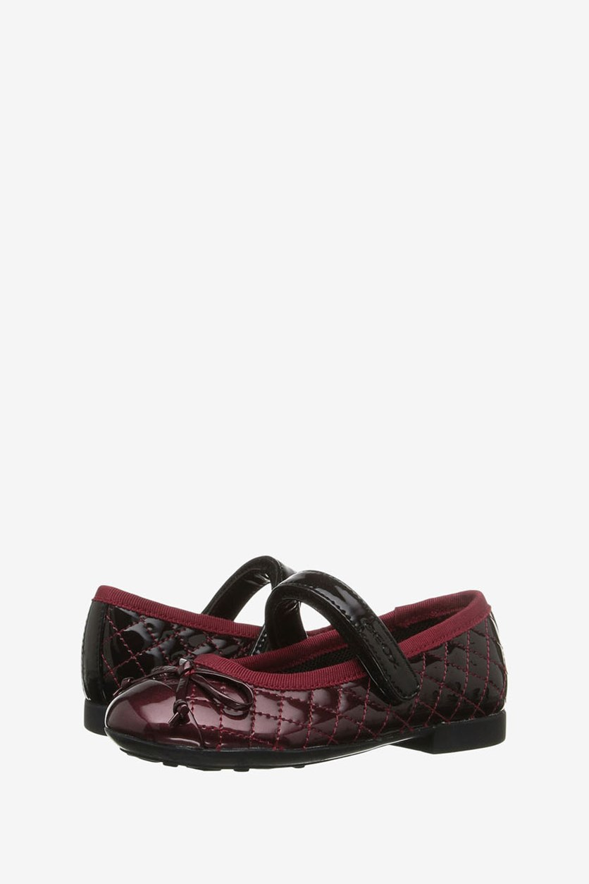 Girl's Shoes Jr Plie, Dark Red/Black