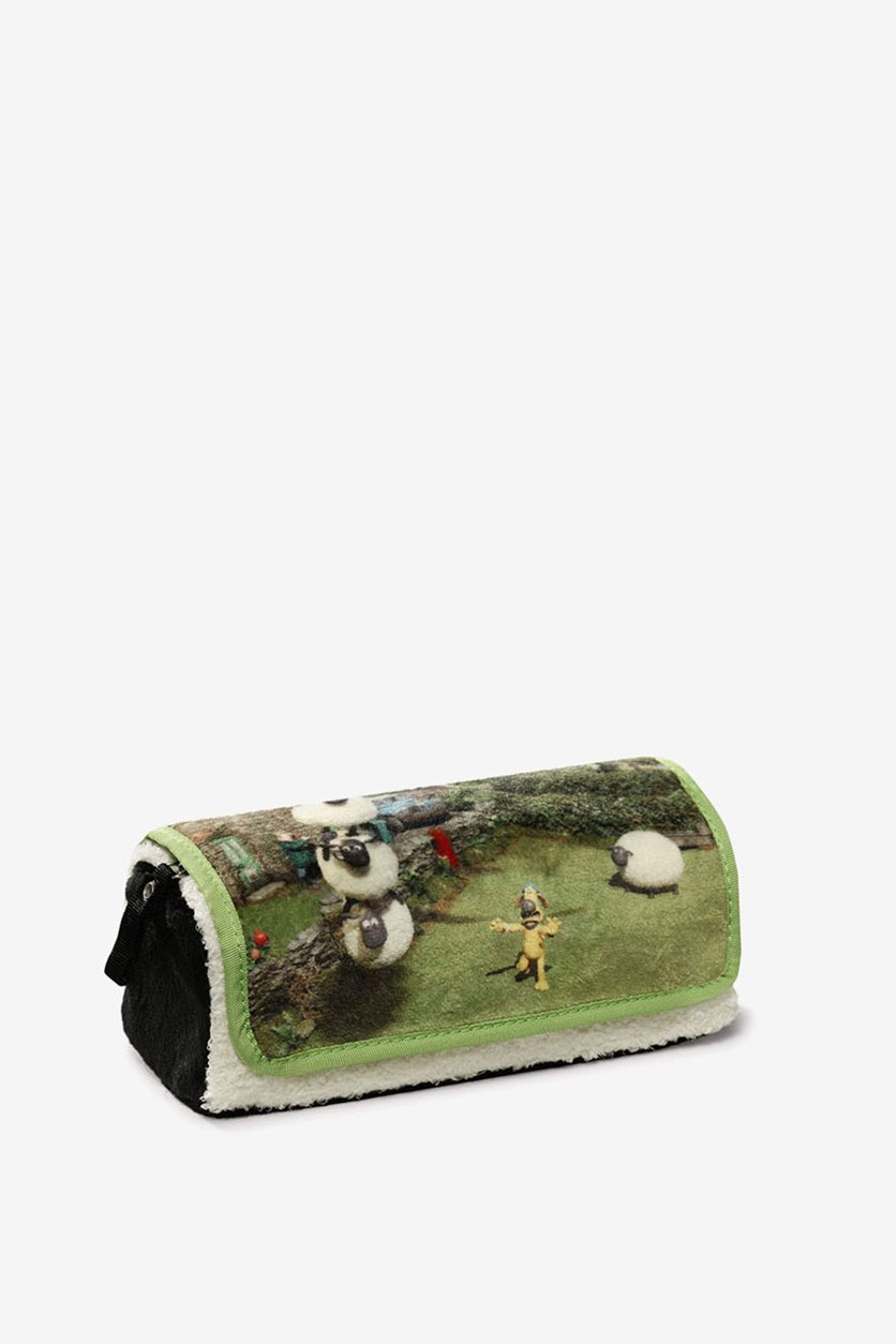 Shaun The Sheep Roll Up Pencil Case, Green