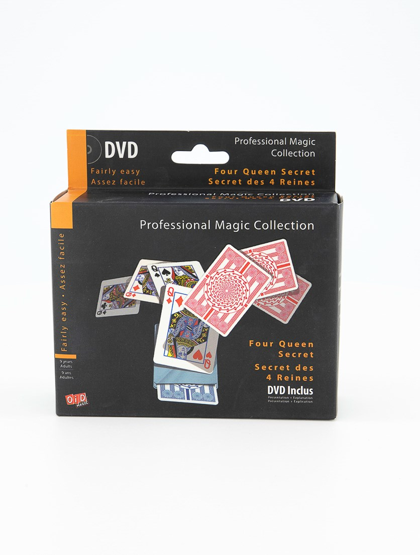 Professional Magic Collection Four Queen Secret, Black/Orange