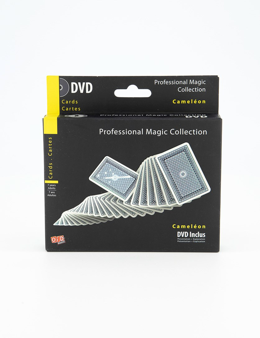 Professional Magic Collection Cameleon Cards with DVD, Black/Yellow