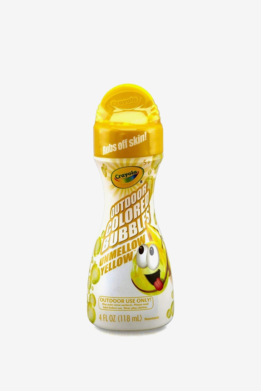 Outdoor Colored Bubbles Unmellow 4 Oz, Yellow