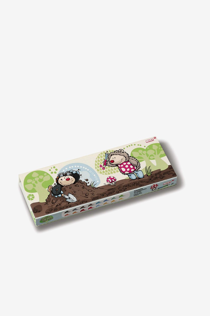 Pencil Box Hedgehog Mouth Coloring Pencil, Green Combo