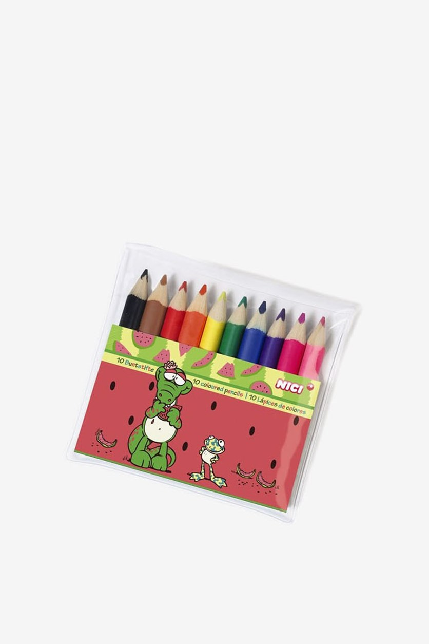 Colored Pencil Summer 10 Pcs Set, Red/Green/Yellow