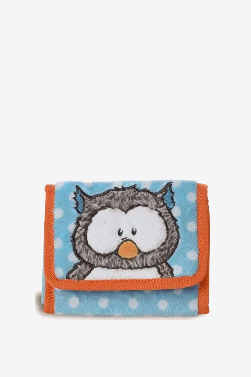 Girls  Design Wallet, Orange/Light Blue