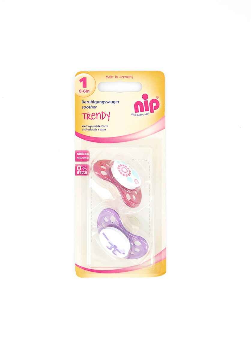 Toddler's Trendy Soothers, Purple/Fuschia Pink