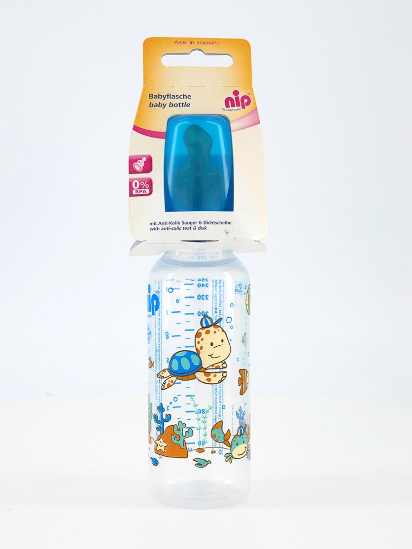 Toddler Boy's Graphic Print Baby Bottle 250 ml, Blue Combo