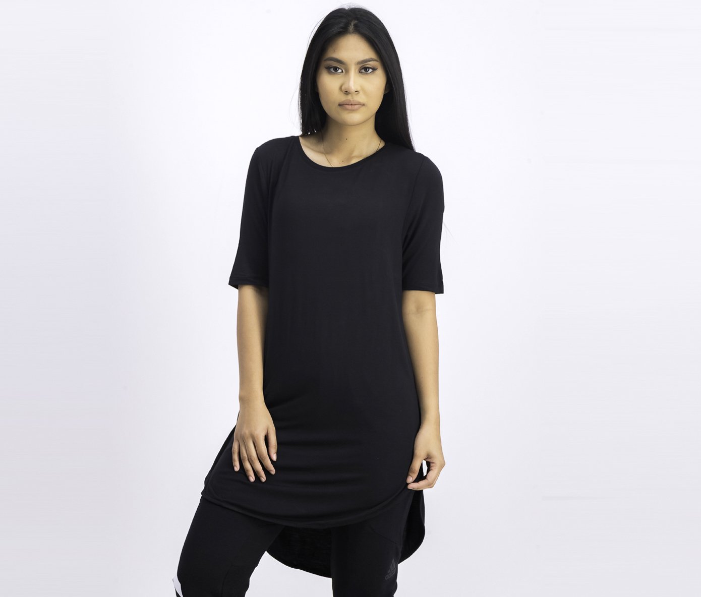 Women's Long Shirt, Black