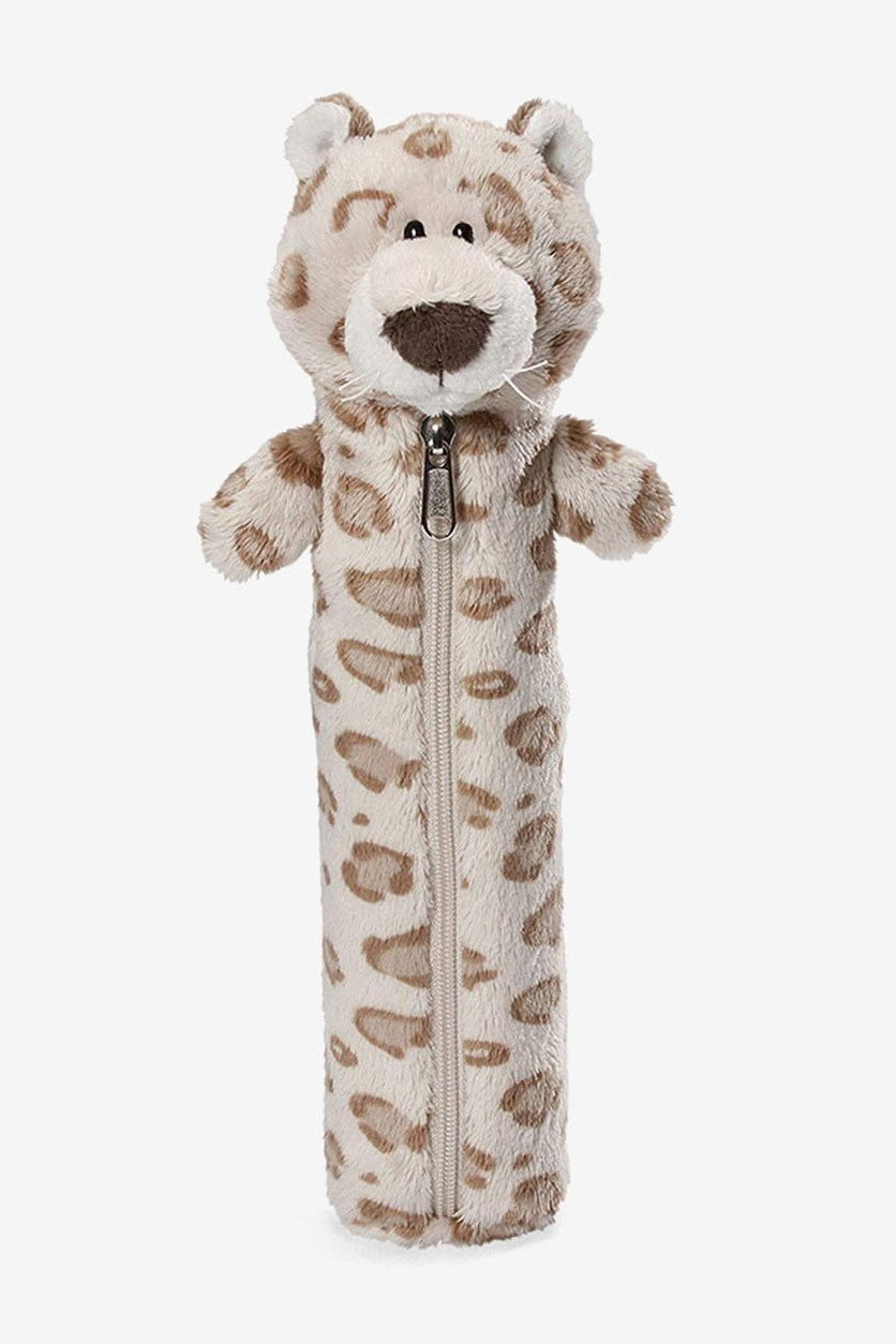 Snow Leopard Boy Pencil Case, Beige