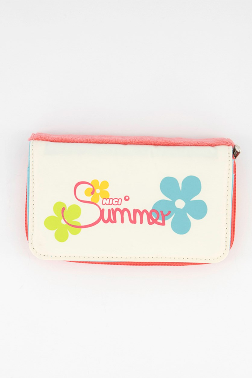 Zip Around Wallet Summer, Pink/Ivory