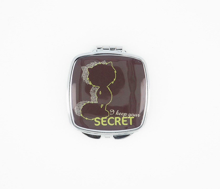 Secret Pocket Mirror, Brown