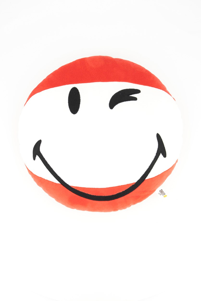 Cushion Smiley Round Pillow, Red