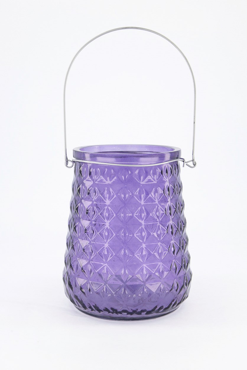 Windlight Candle Holder, Purple