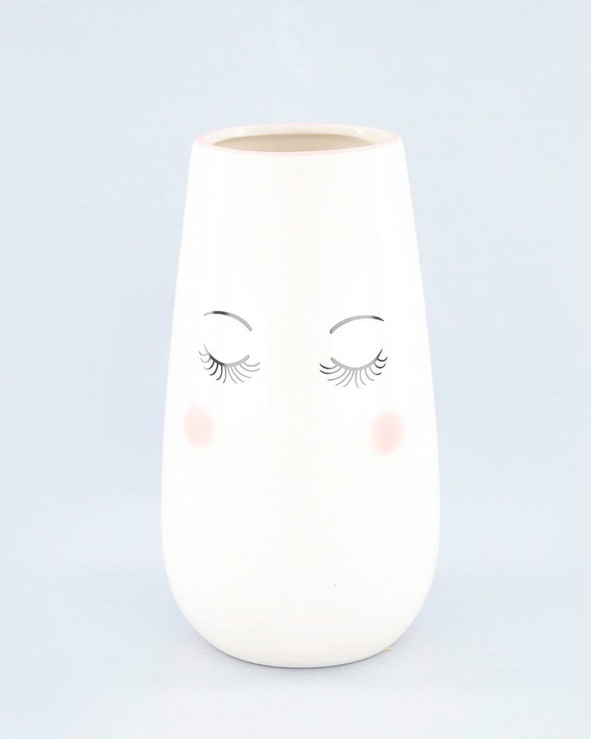 Pretty Ceramic Vase, White