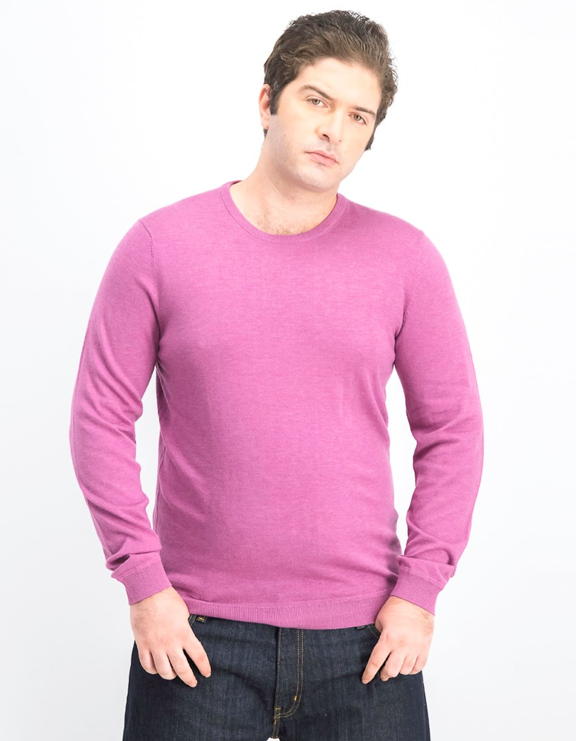 Men's Knit Longsleeve Sweater, Purple