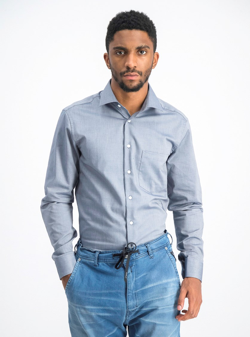 Men's Modern Shirt, Grey