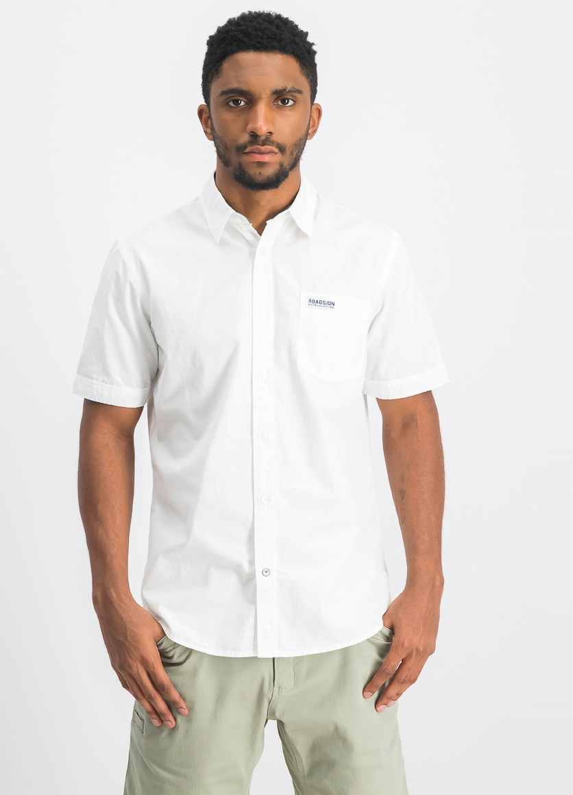Men's Shortsleeves Casual Shirts, White