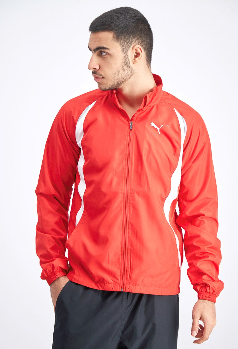 Men's TB Running Warmup Jacket, Red