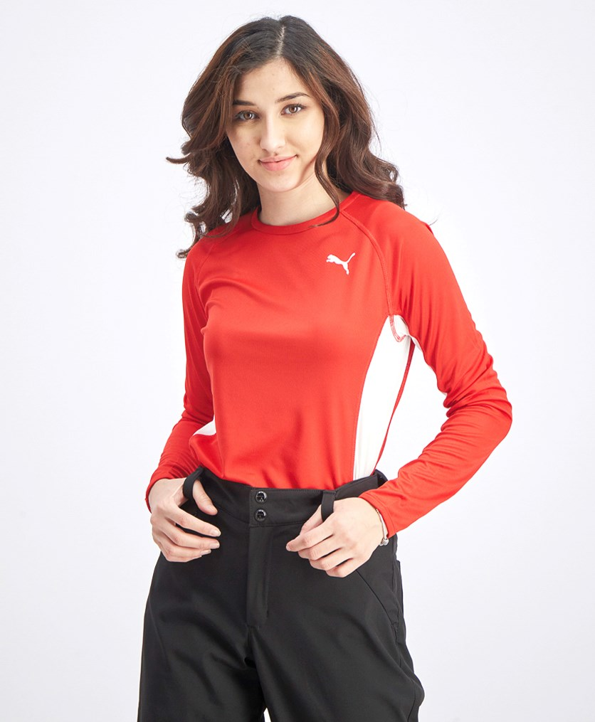 Women's Running Long Sleeve Tops, Red