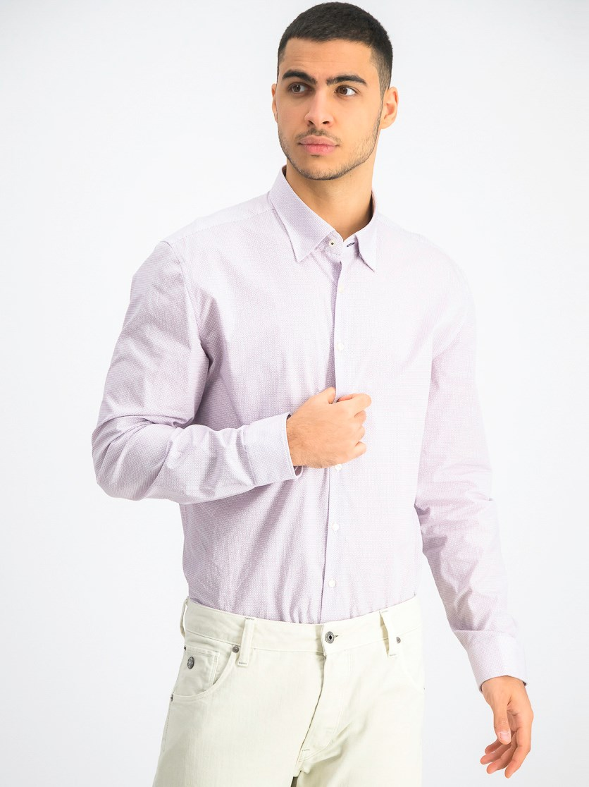 Men's Printed Casual Shirt, Pink Combo