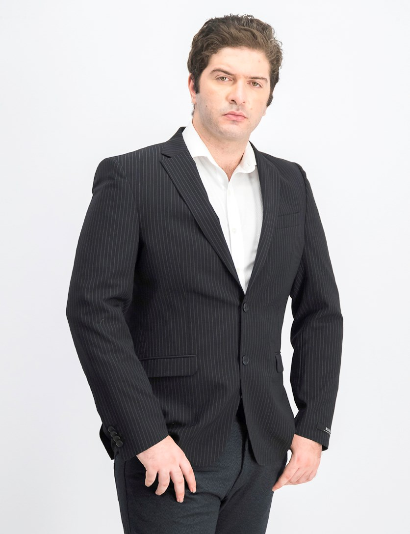 Men's Two Button Blazer, Black
