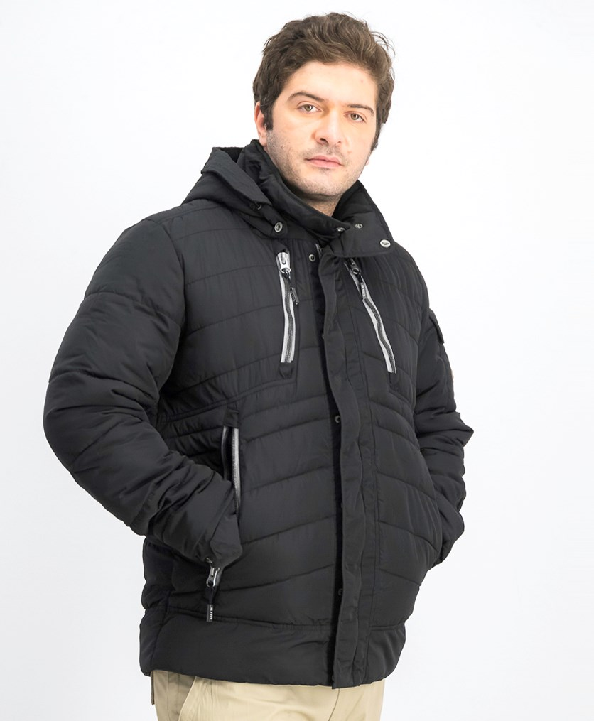 Men's Rolimo Fashion Zip-Off Hooded Jacket, Black