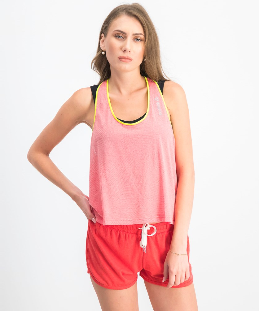Women's Wide Tank, Laser Red