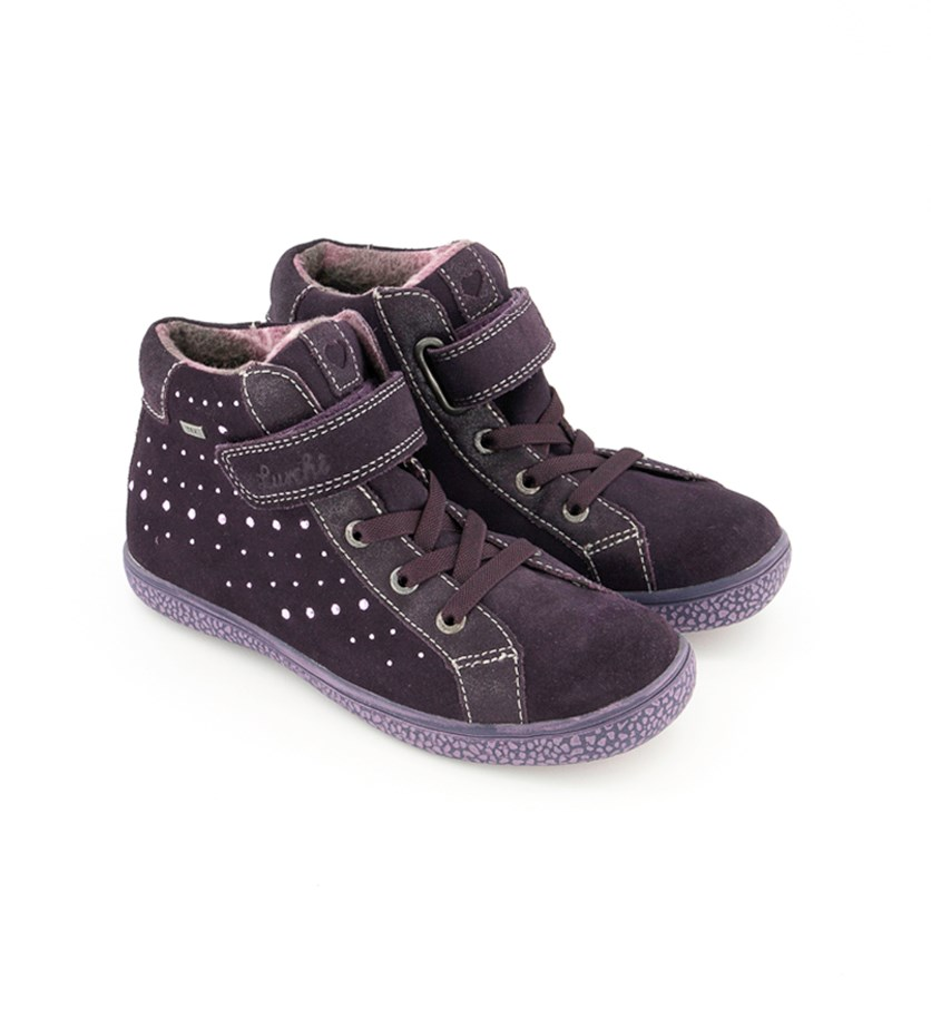 Kids Girls Tabby-Tex Suede, Blackberry