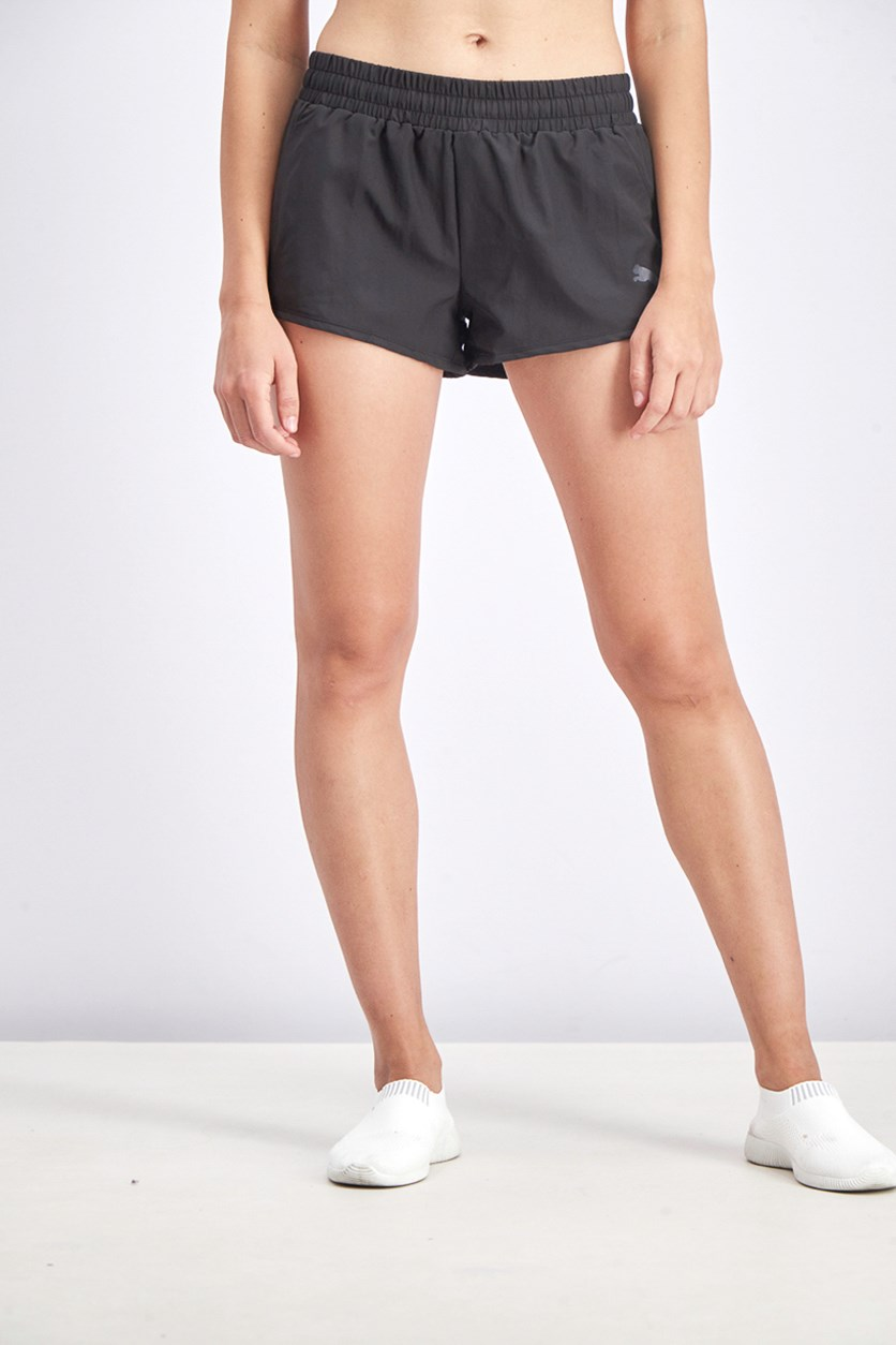 Women's Activate Ess Woven Shorts, Black
