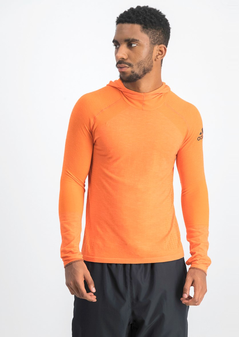 Men's Running Climaheat Hoody, Orange