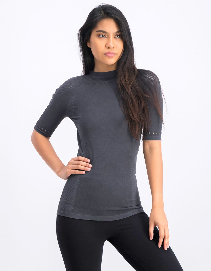 Women's Tee Slim Sport T-shirt, Charcoal