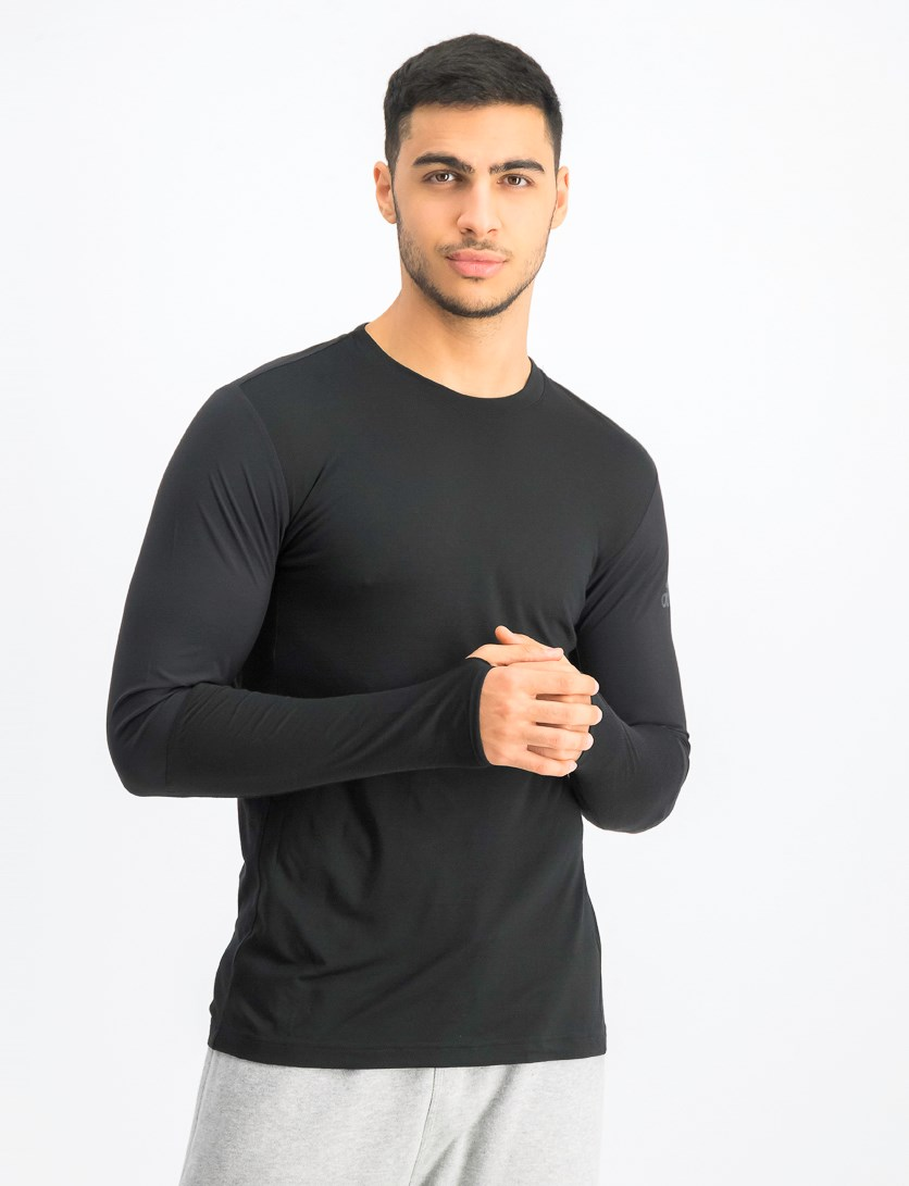 Men's Work Out Long Sleeve, Black