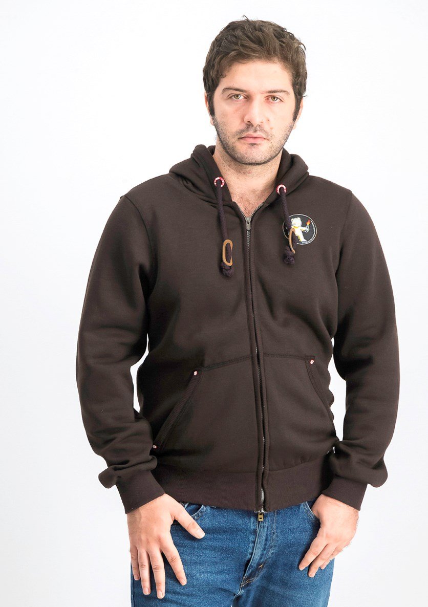 Men's Hooded Jacket, Chocolate Brown