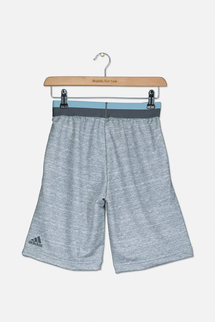 Kids Plain Short,Grey