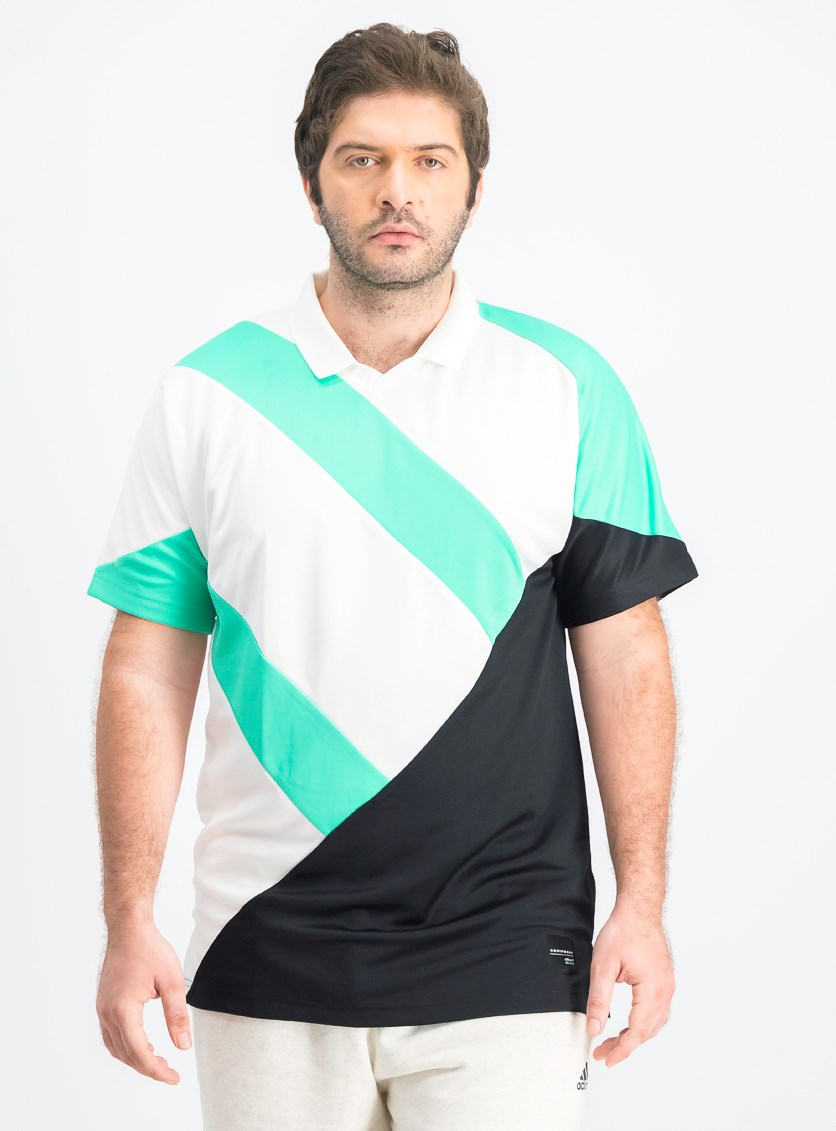EQT 18 Polo Shirts, White/Green/Black