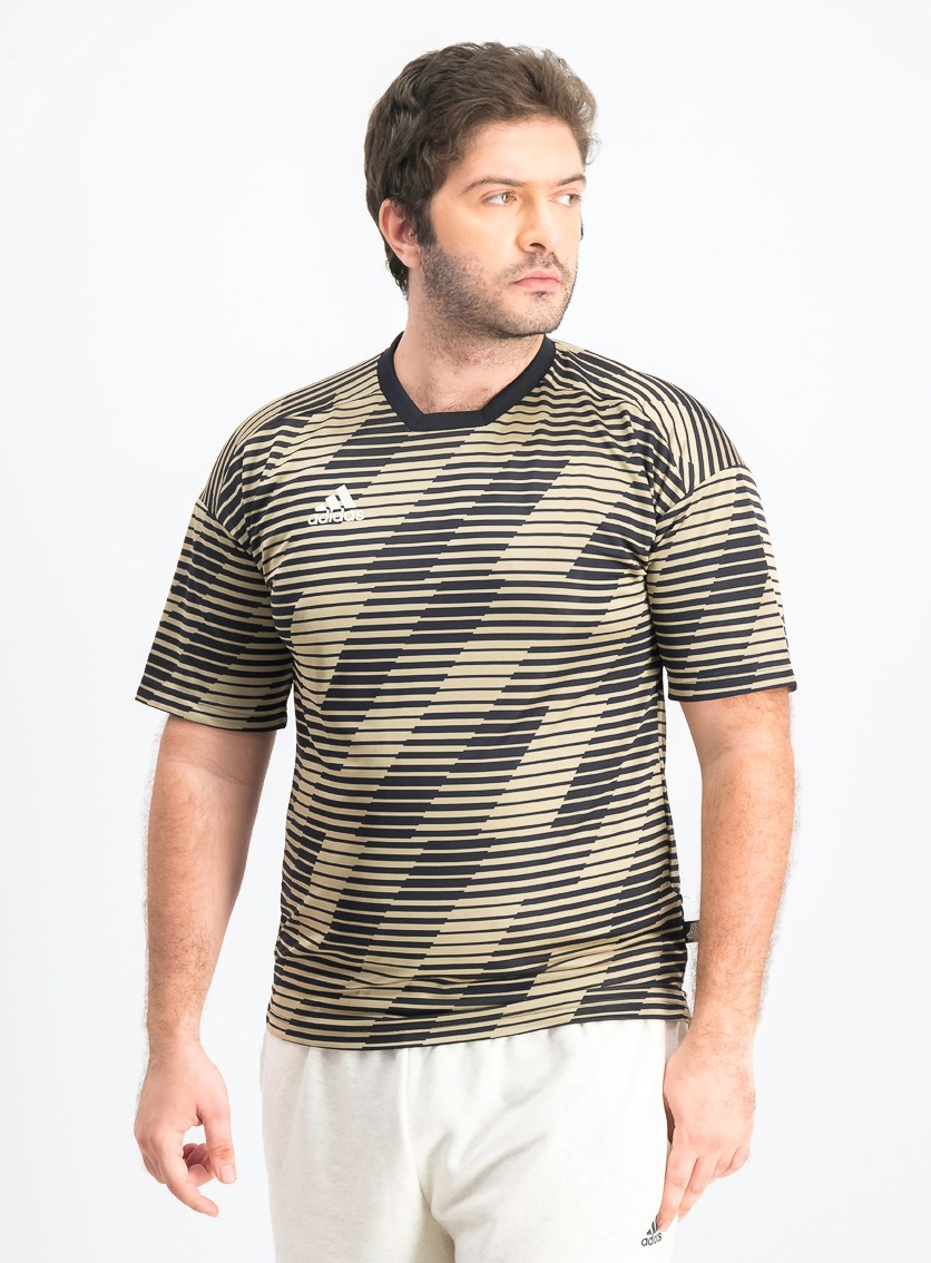 Men Training Jersey Shirt, Black/Gold