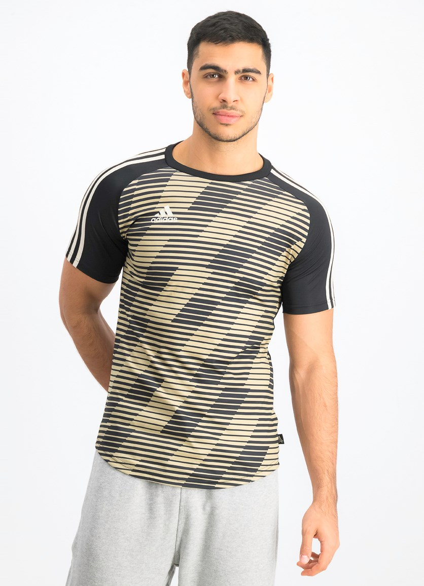 Men's Graphic Jersey, Black Brown