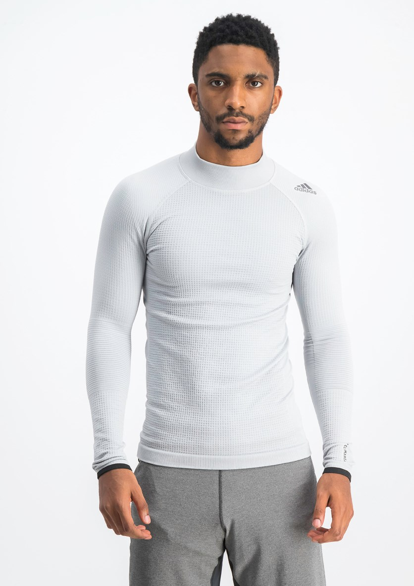 Men's Techfit Climaheat Tee, Light Grey